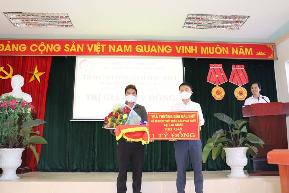 Chúc mừng 02 khách hàng trú tại tỉnh Lai Châu đã trúng thưởng 02 vé giải đặc biệt Xổ số kiến thiết miền Bắc trị giá 02 TỶ ĐỒNG do công ty XSKT Lai Châu phát hành ngày 27/3/2020