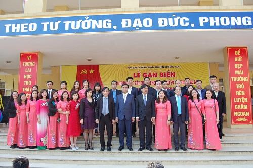Lễ gắn biển Trường THCS Đông Quang, xã Đồng Quang, huyện Quốc Oai, Hà Nội